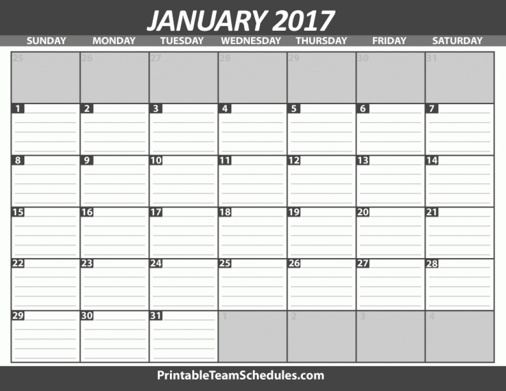 Free Printable Calendar With Lines Printable Monthly Calendar With