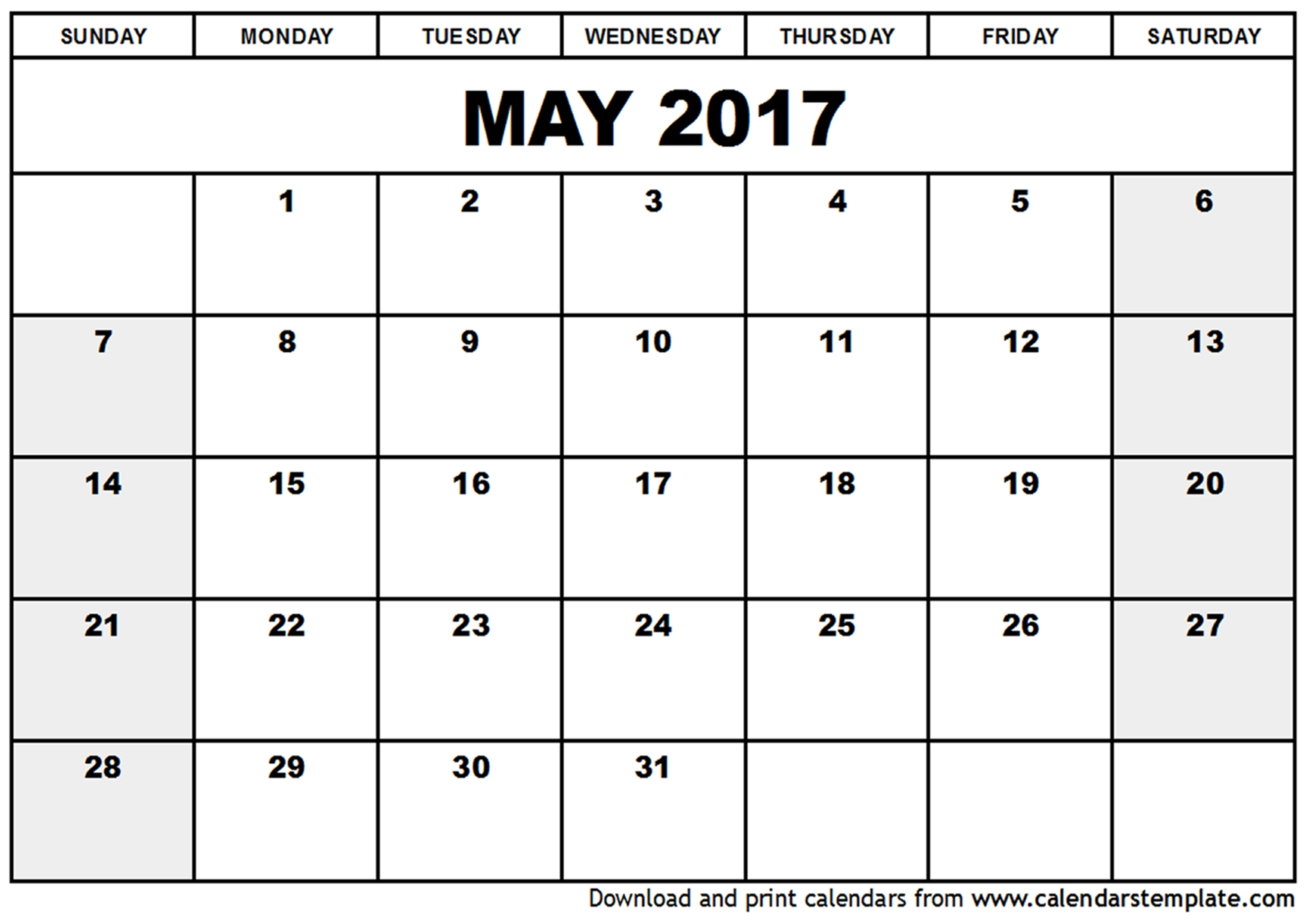 Free Printable Calendars 2017 These Calendar Templates Are Also 89uj