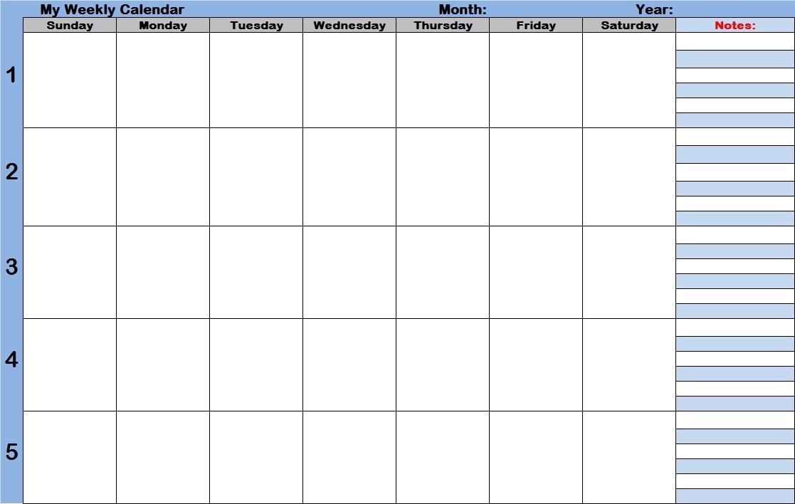 Free Printable Week Calendar With Time Slots Printable Calendar