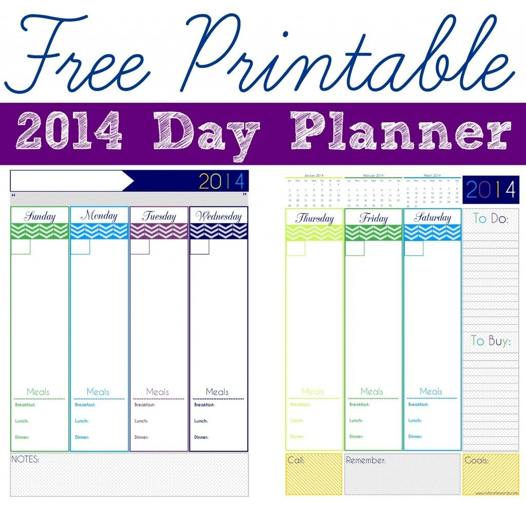 Freebie Friday 2014 Day Planner Planners Free Printable And  Xjb