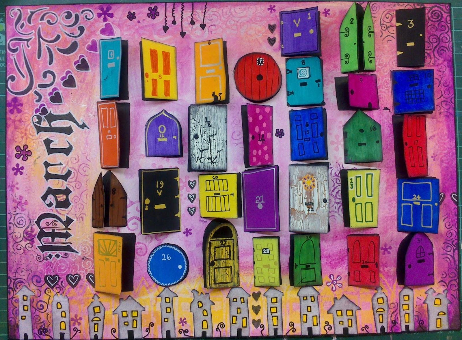 Funky Bazaar Art Journal Calendar Page March 89uj