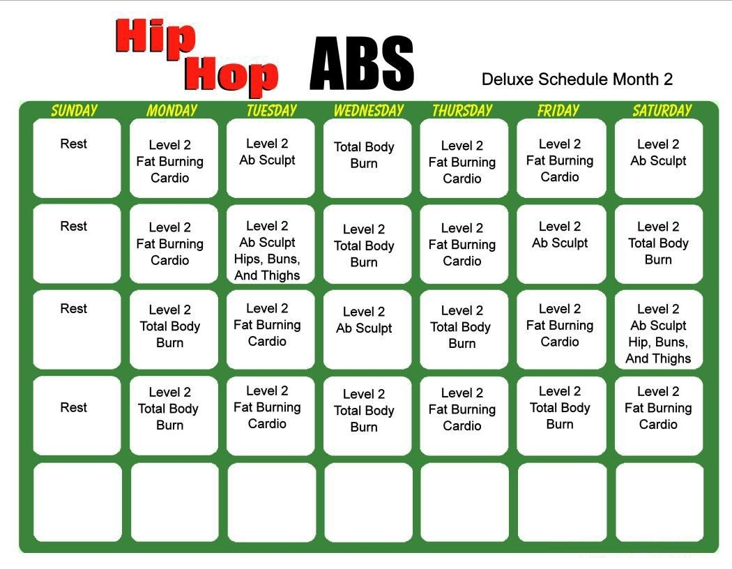 Hip Hop Abs 6 Day Slim Down Meal Plan Pdf Salegoods Pinterest  Xjb