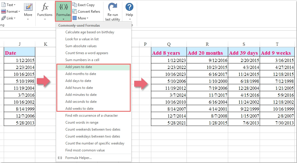 How To Count Calculate Quarters Between Two Dates In Excel