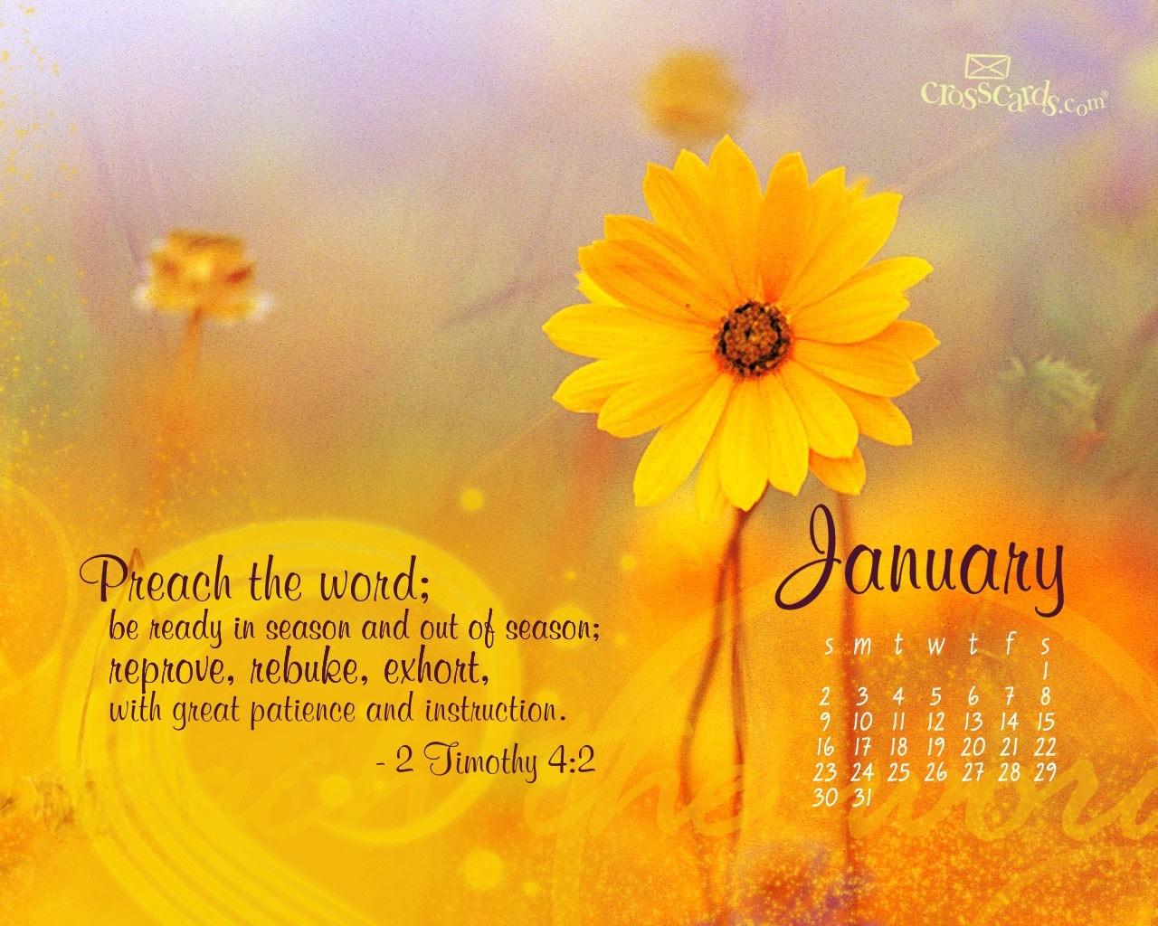 January 2011 2 Timothy 42 Desktop Calendar Free January Wallpaper3abry