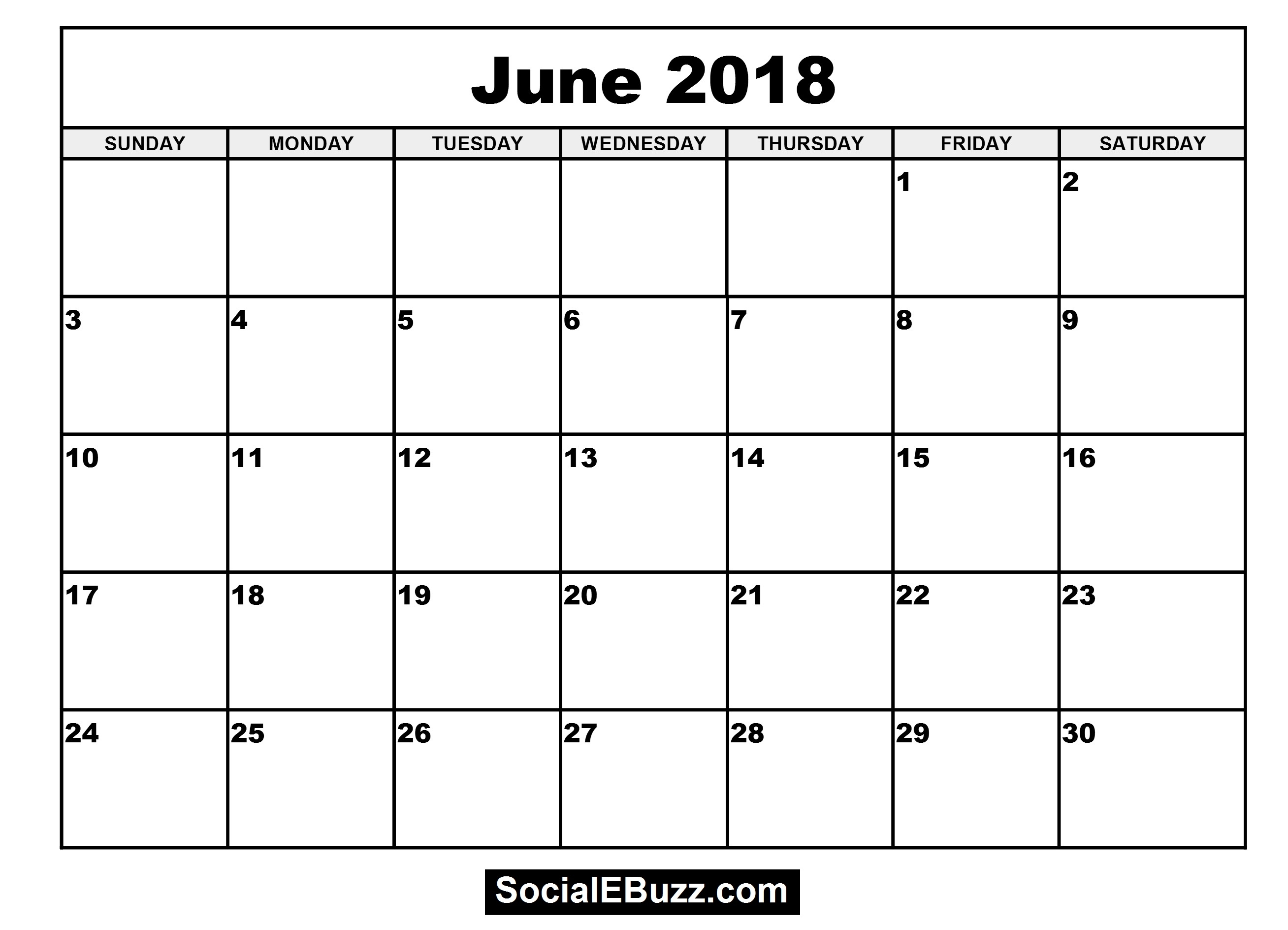June 2018 Calendar Printable Template June Calendar 2018 June 89uj