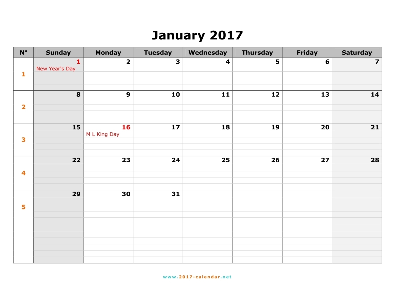 Monday Through Sunday Calendar Tolgjcmanagementco3abry