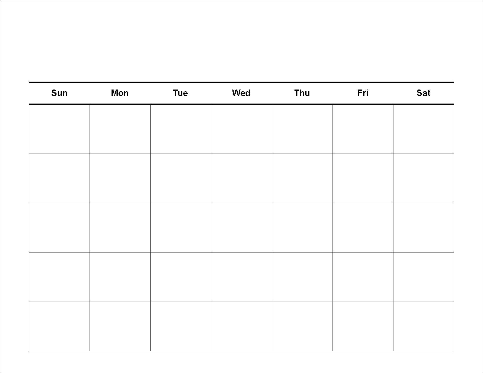 Monthly Calendar Template Printable Blank Calendars Templates