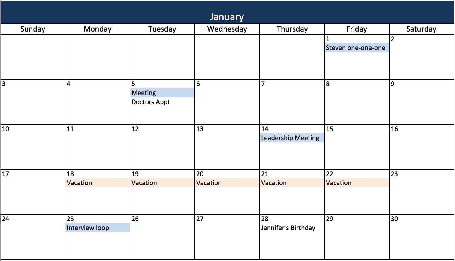Monthly Task Calendar Evolistco3abry