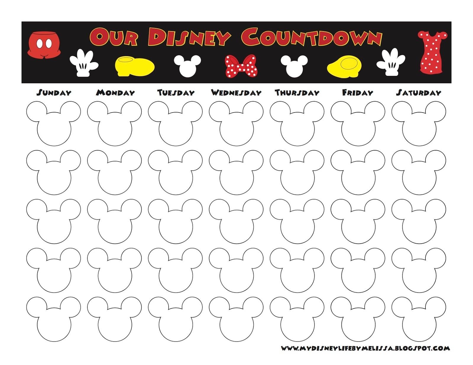 My Disney Life Countdown Calendars  Xjb