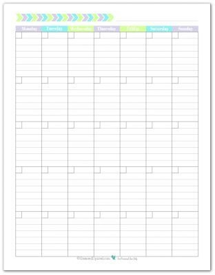 New Planner Printables Reader Request Blank Monthly Calendar