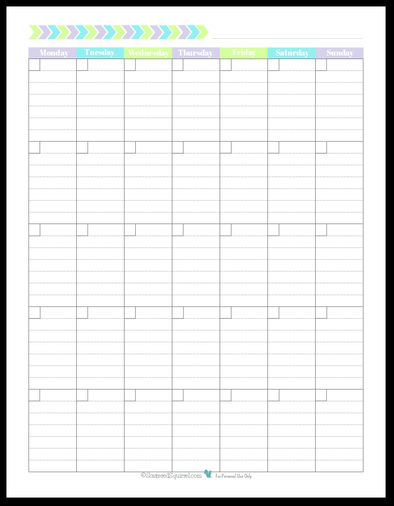 Personal Planner Free Printables Blank Monthly Calendar