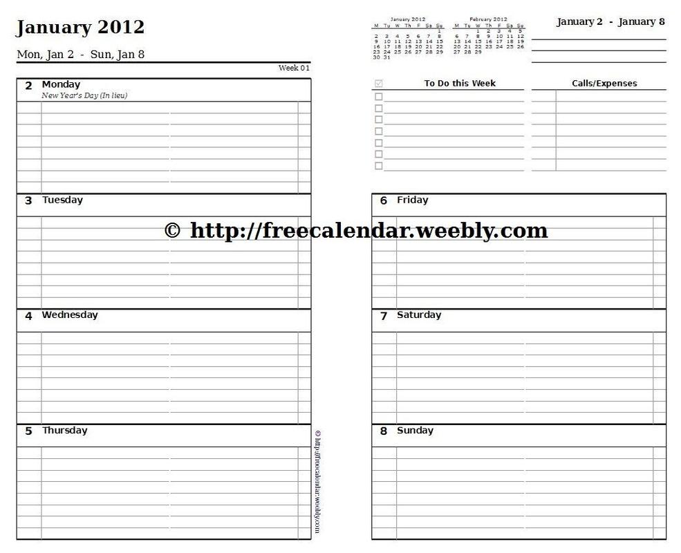Printable Calendar 2012 Free Printable Calendars3abry