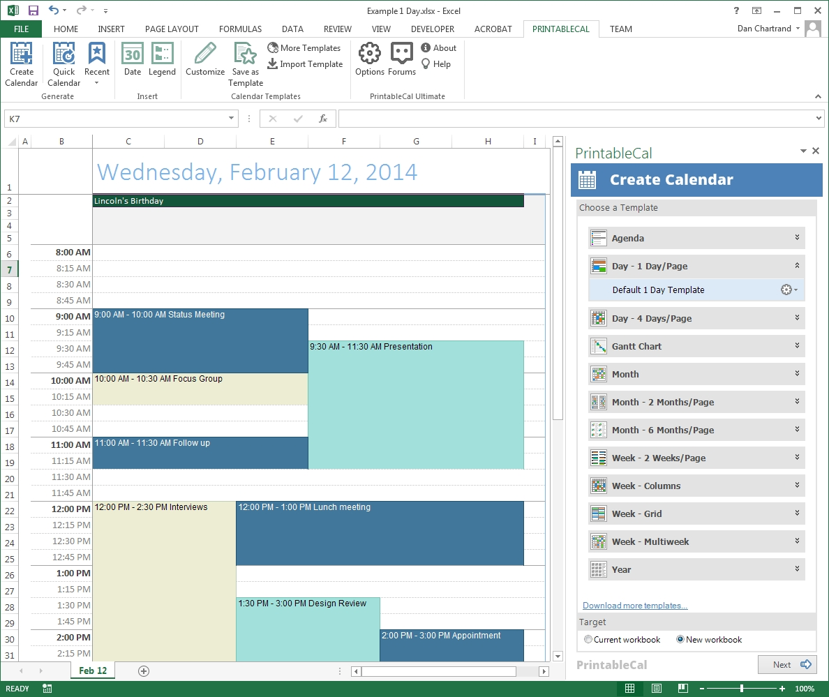 Printable Calendar Custom Date Range Calendar Template 20173abry
