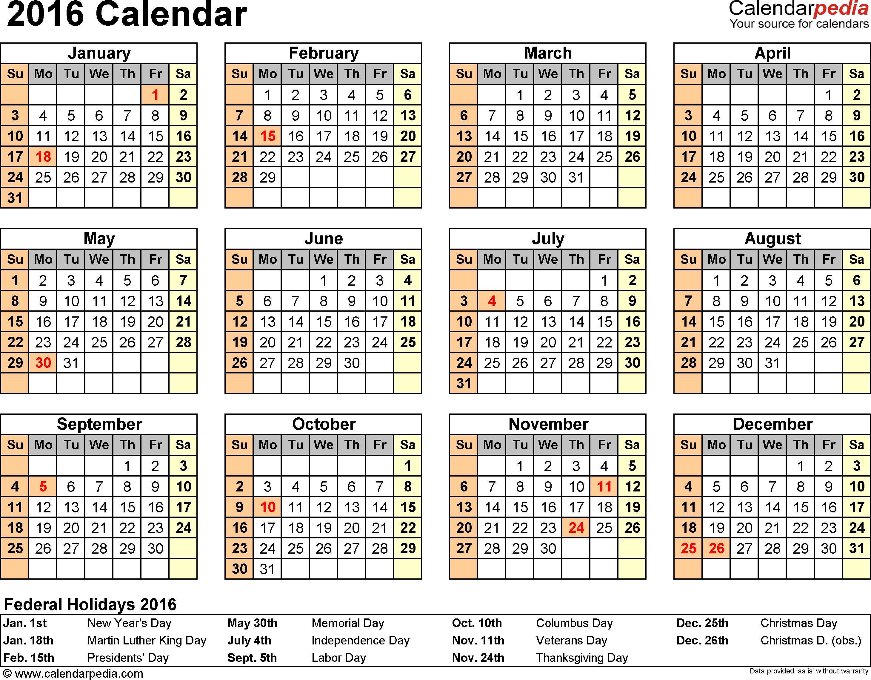 Publisher Calendar Templates 2016 Calendar Template 2018