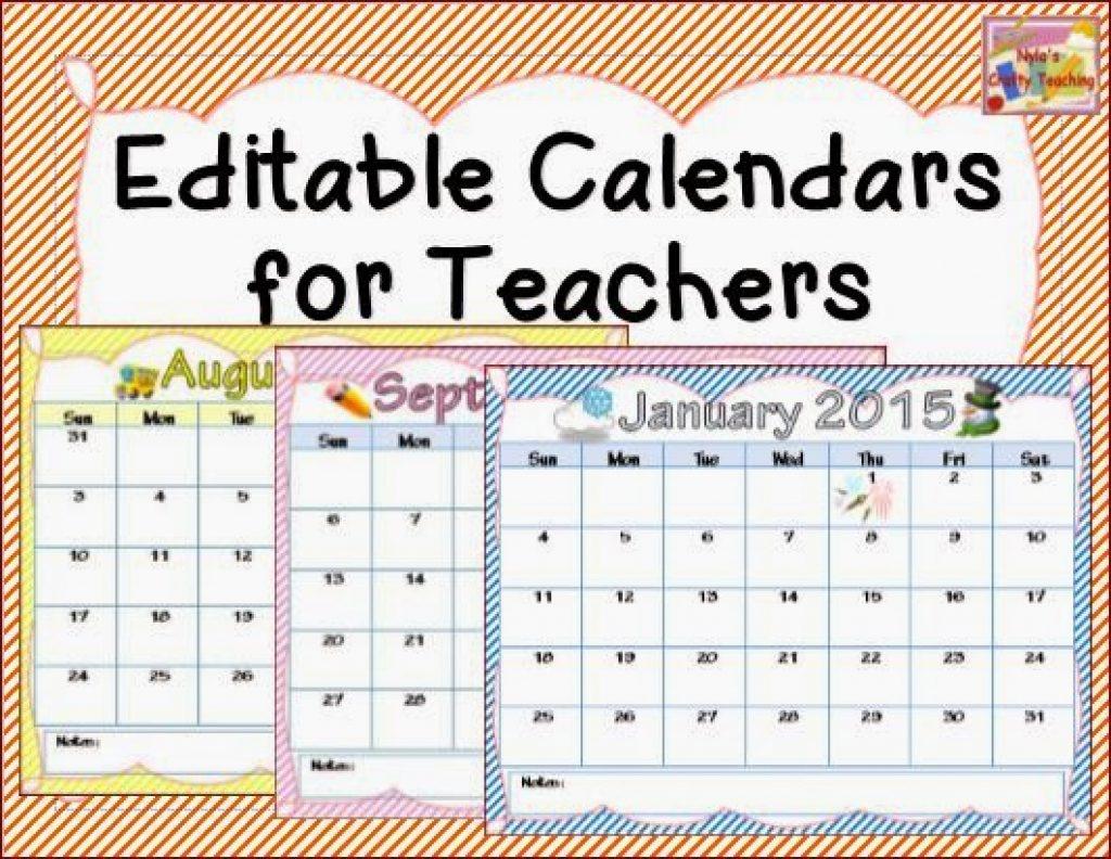 Teachers Printable Calendar Printable Calendar Templates 2018  Xjb