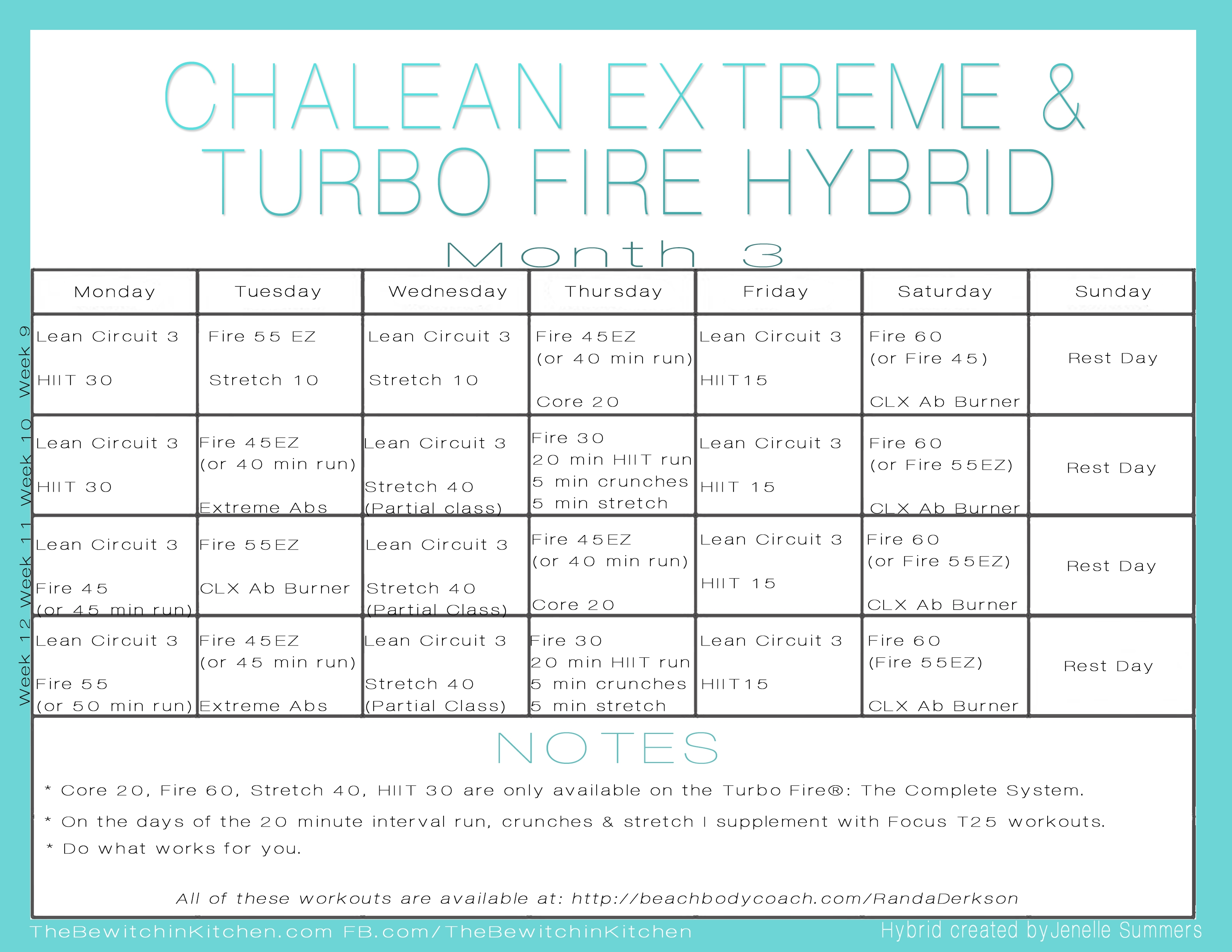 Turbo Fire Chalean Extreme Hybrid Schedule Jenelle Summers3abry