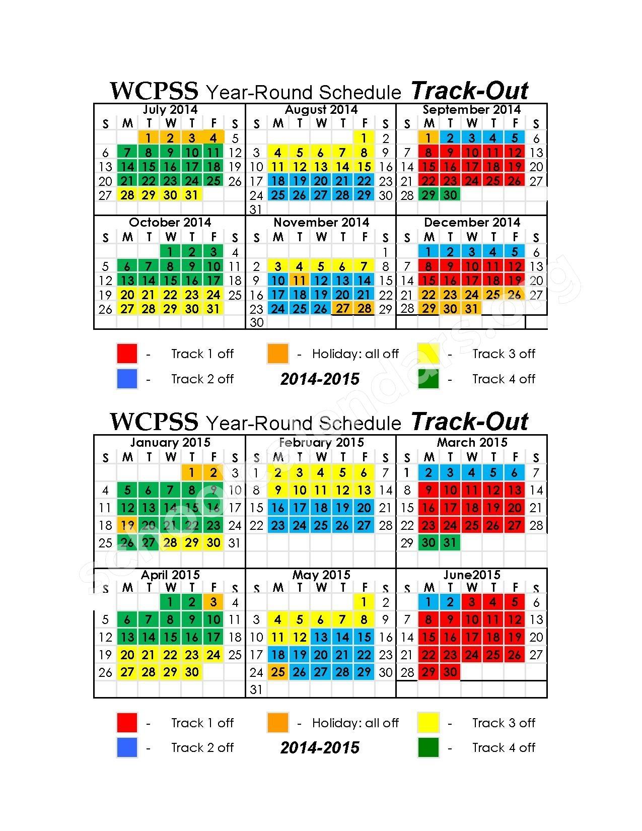 Wake County Schools Year Round Calendar