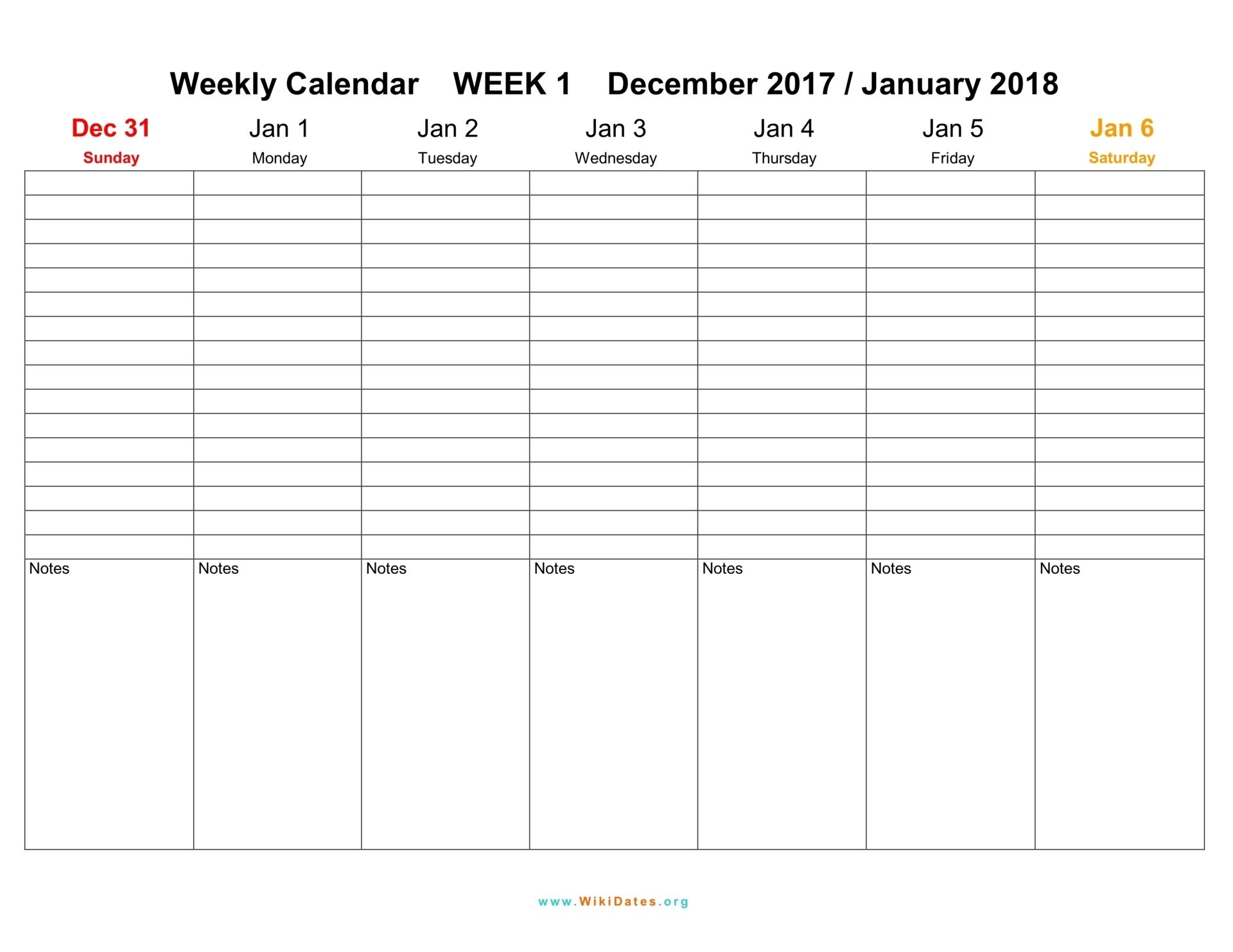 Weekly Calendar 2016 2017 Sample Helloalive