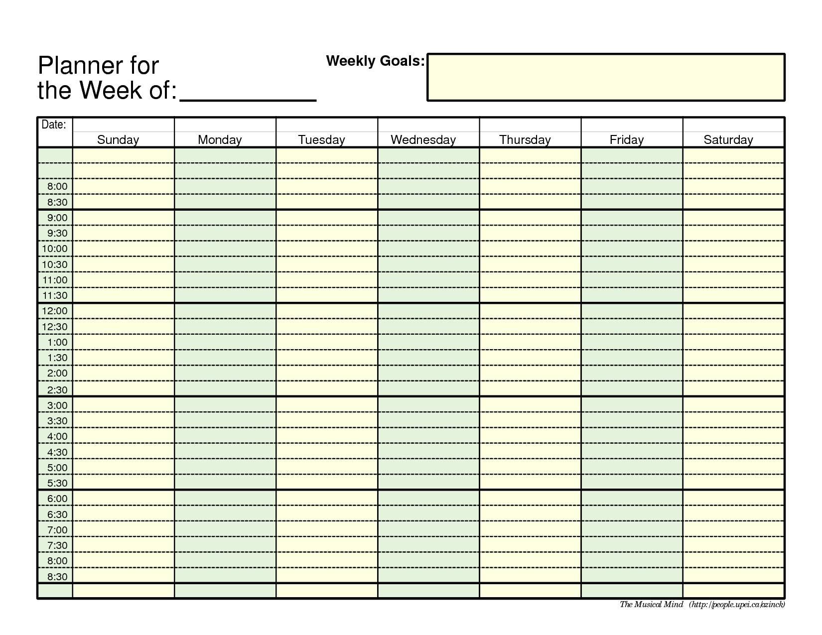 Weekly Planner Template Image 3 Craft Ideas Pinterest 89uj