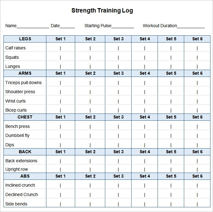 Workout Schedule Template 17 Free Word Excel Pdf Format