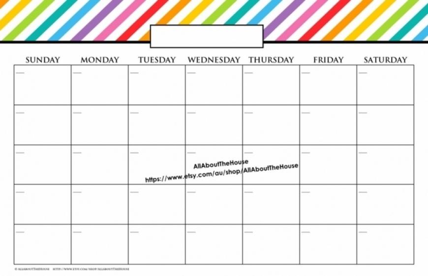 11 X 17 July Calendar 7uth Blank Calendar To Print