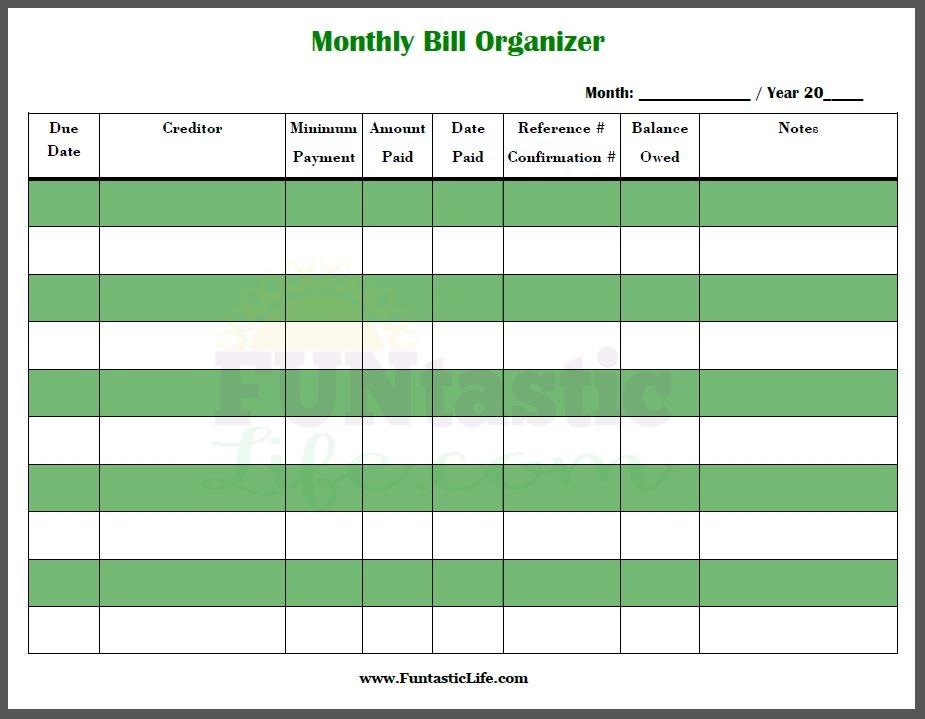 Bill Organizer Calendar Etamemibawaco