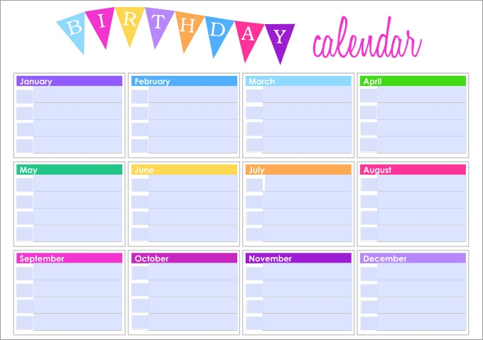 Birthday And Anniversary Calendar Template Tiredriveeasyco