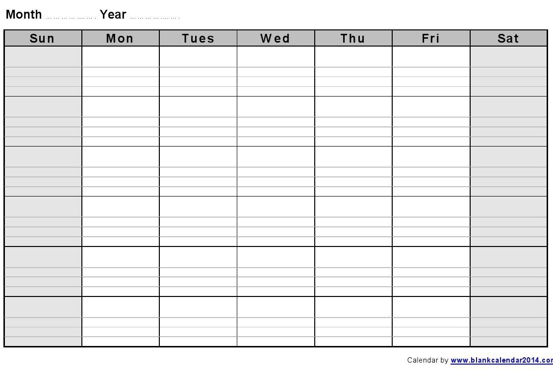 Blank Monthly Calendar Template Printable Calendar Templates 20183abry