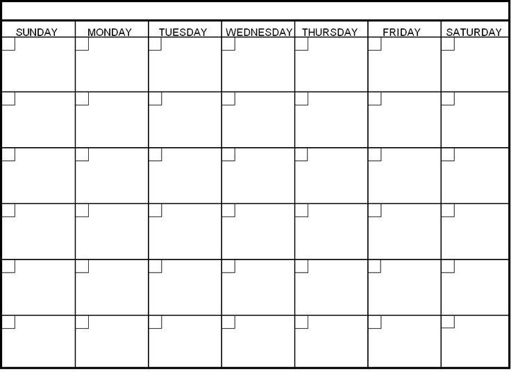 Blank Monthly Calendar Template Word Blank Calendar Template
