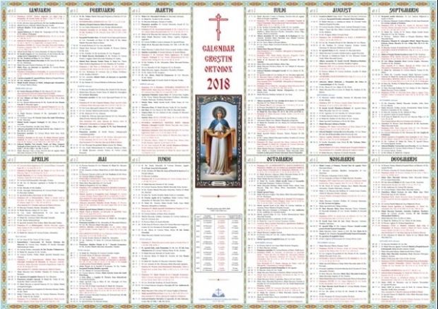 Calendar Ortodox 2018 N Ce Dat Vom Srbatori