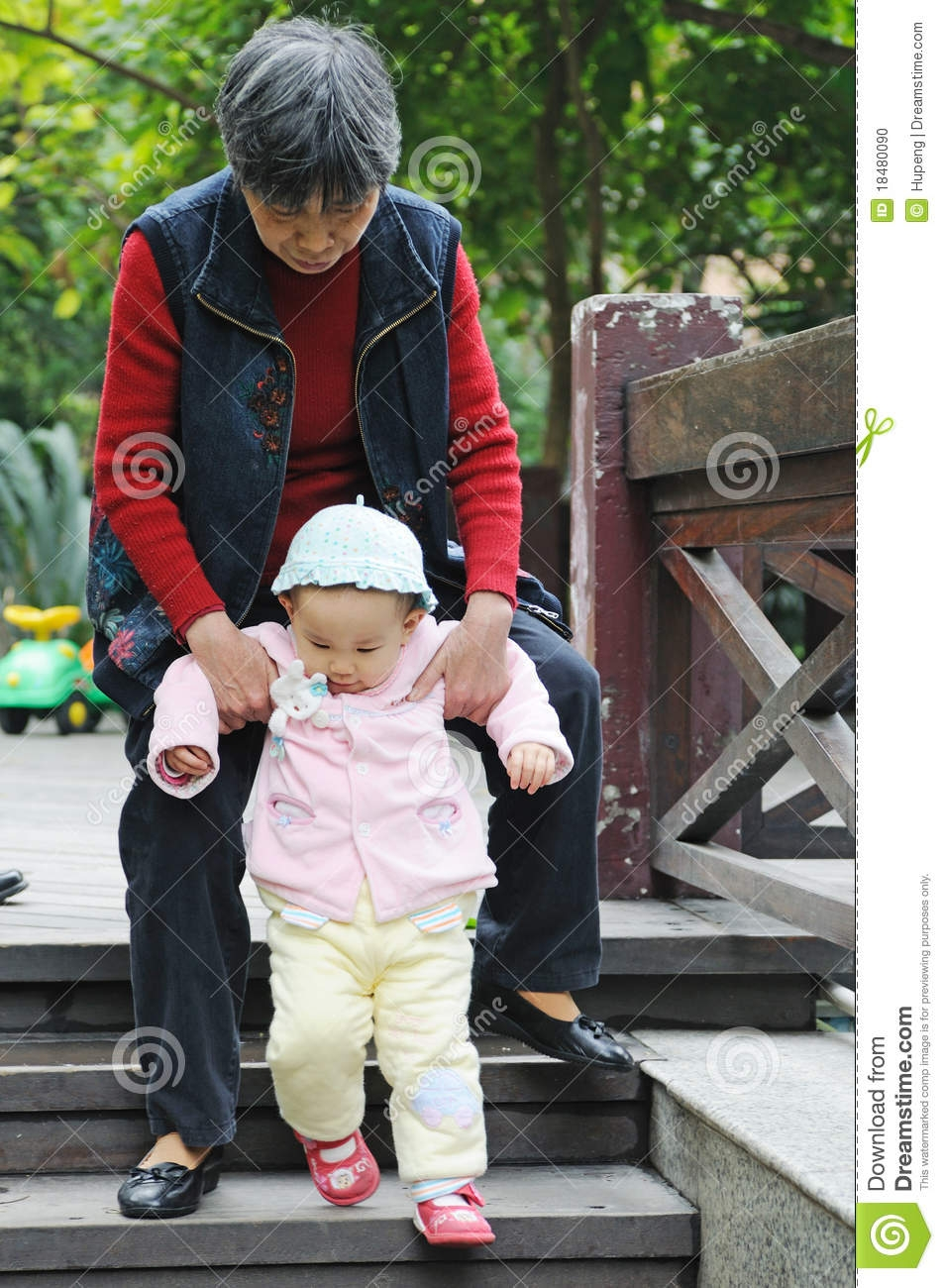 Chinese Ba Learn To Walk Stock Photo Image Of Happy 18480090