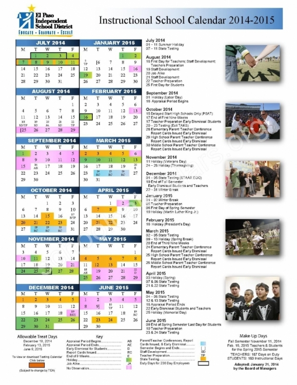 Comal Independent School Calendar Calendar Printable Template