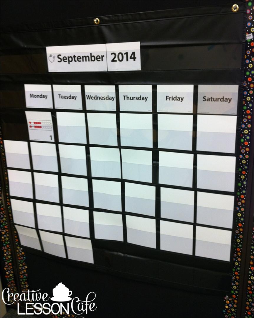 Creative Lesson Cafe Number Corner Set Up Photos Our Calendar Math3abry