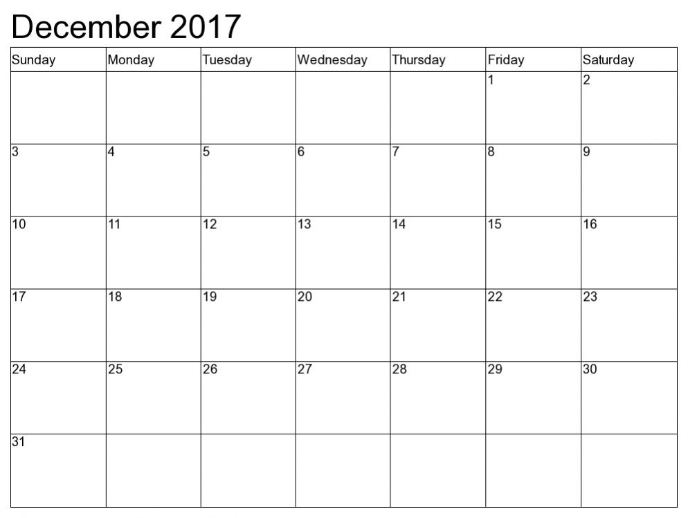 December 2017 Calendar Printable Uk Usa Canada Australia