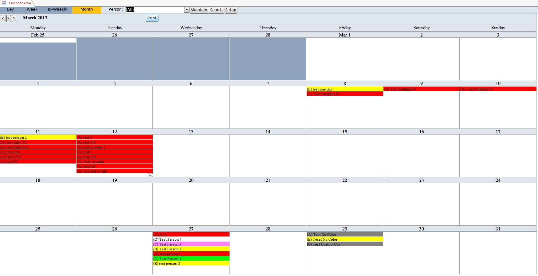 Enhanced Microsoft Access Calendar Scheduling Database Template  Xjb