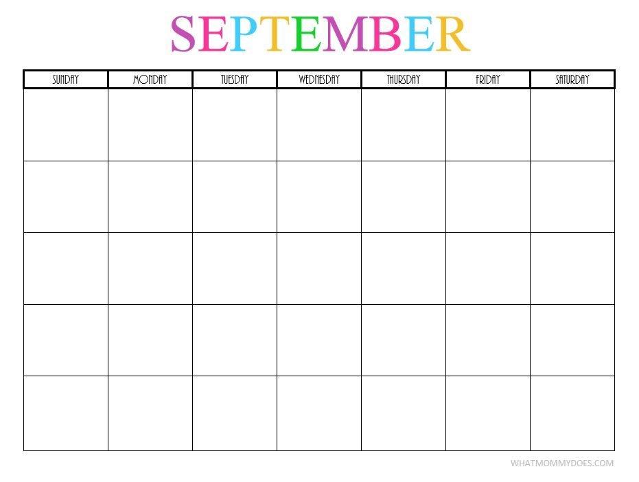 Free Printable Blank Monthly Calendars 2017 2018 2019 2020