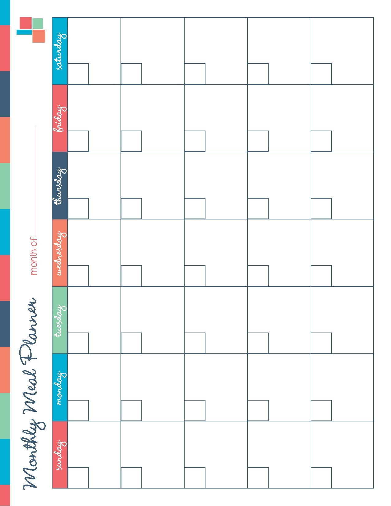 Free Printable Meal Planner Kitchen Set Free Printable Meal3abry