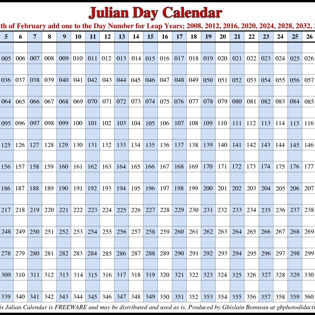 Julian Date Calendar 2017 Pdf Calendar 2018 Printable
