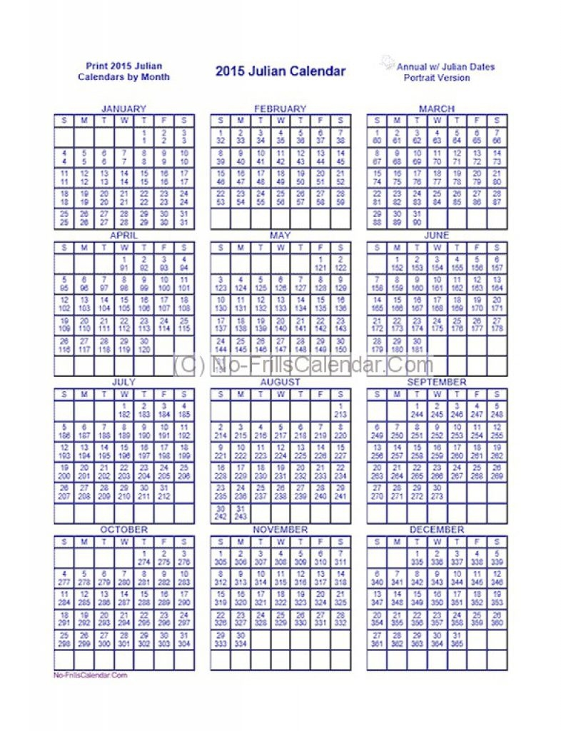 Julian Date Calendar 2018 Printable Printable Calendar Templates 2018