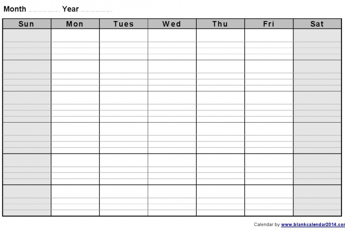 Lined Monthly Calendar Free Printable Calendar Printable Template