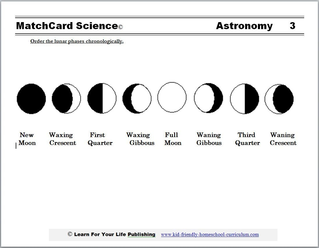 Moon Cycle Moon Phases Worksheets And Tattoo3abry