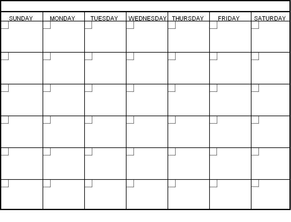 Pin Sonya Mariani On Organization Pinterest Blank Calendar