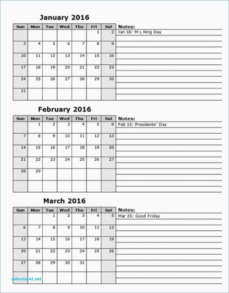 Printable Calendar 3 Months Per Page Printable Calendar Templates 2018  Xjb