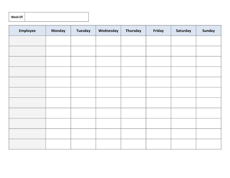 Schedule Templates Work Templates Employee Schedule Template