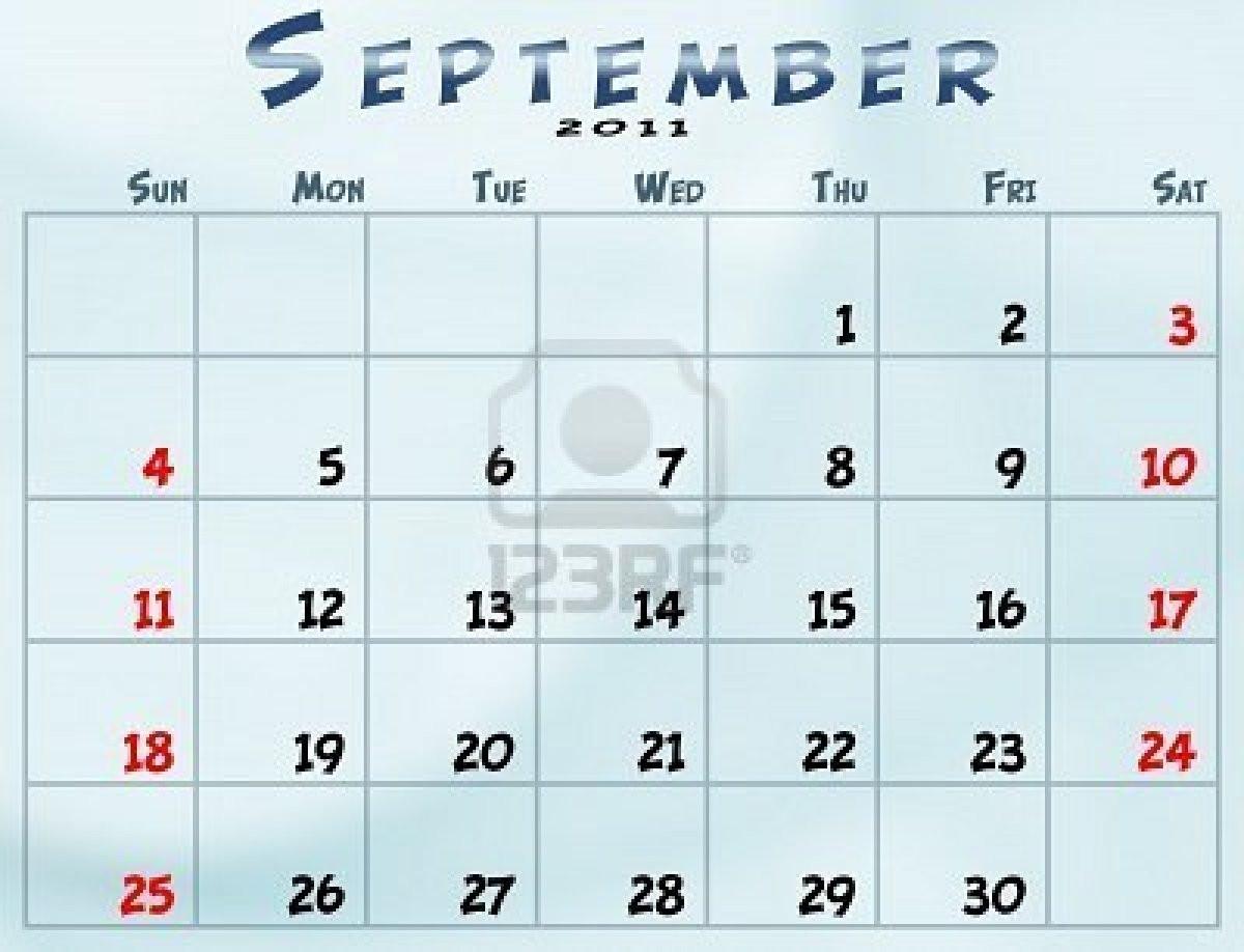 September 1994 Calendar Nasionalis