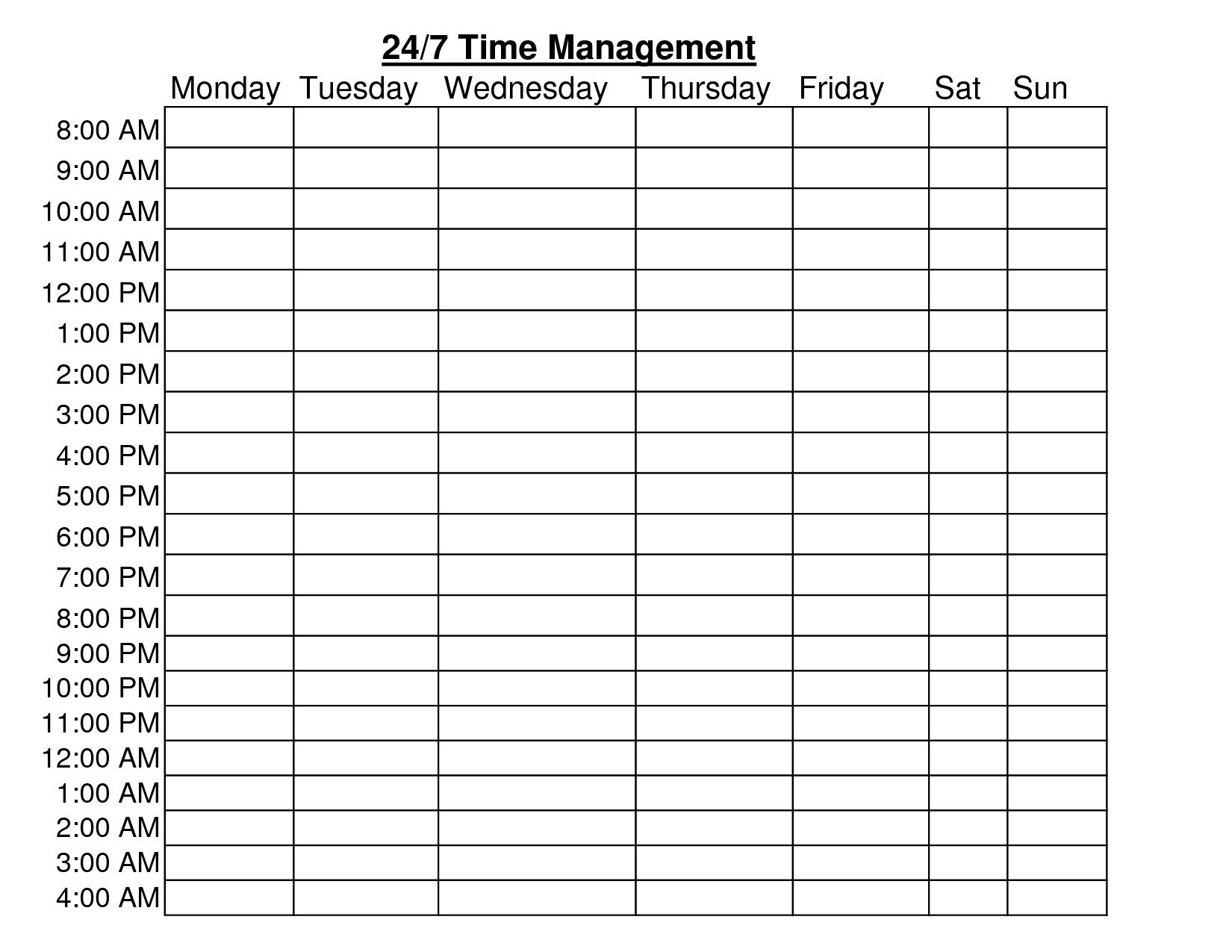Time Schedule Chart Template Ivedipreceptivco