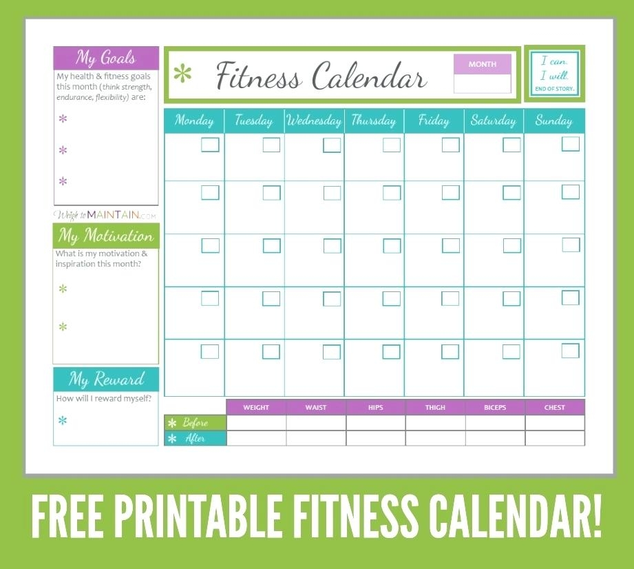 Workout Calendar Template Family Schedule Template Free Word Excel
