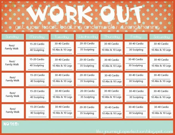 Workout Calendar Template Workout Calendar Template Picture Workout