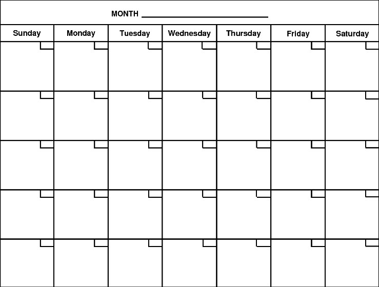 Blank Calendar Print Out Calendar Picture Templates Print Off