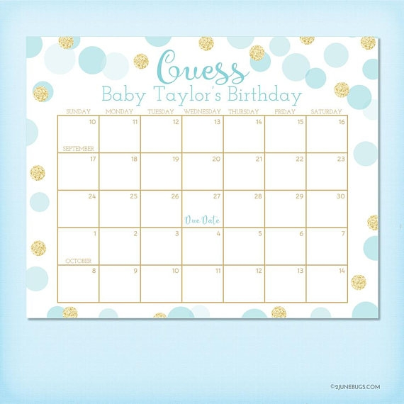 Blue And Gold Ba Shower Birthday Predictions Ba Shower Due Date